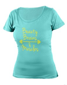 gifts: Personalised Aqua Beauty Brains Ladies T Shirt!