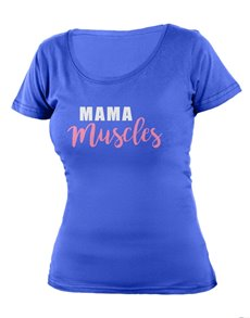 gifts: Personalised Blue Mama Muscles T Shirt!