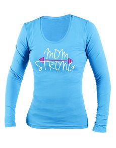 gifts: Personalised Blue Mom Strong Longsleeve T Shirt!