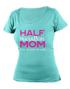 gifts: Personalised Aqua Half Marathon Mom T Shirt!