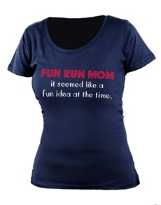 gifts: Personalised Navy Fun Run Mom T Shirt!