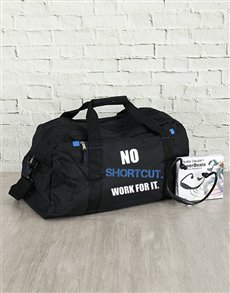 gifts: Personalised No Shortcut Gym Bag and Powerbeats!