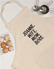 gifts: Personalised Wife Mom Boss Apron!