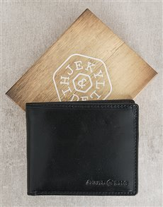 gifts: Jekyll and Hide Oxford Black Personalised Wallet!