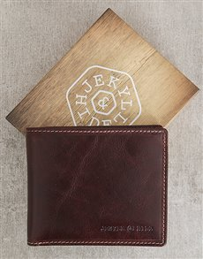 gifts: Jekyll and Hide Oxford Coffee Personalised Wallet!