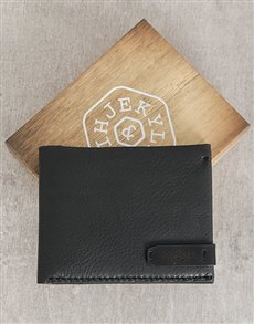 gifts: Jekyll and Hide Black Personalised Wallet!