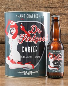 gifts: Personalised Dr Feelgood Craft Beer!