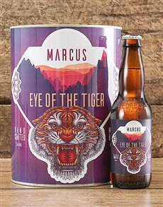 gifts: Personalised Eye Of Tiger Craft Beer!