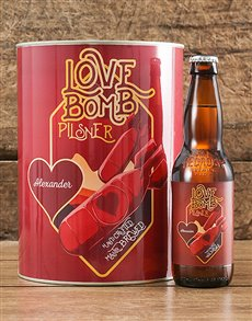 gifts: Personalised Love Bomb Craft Beer!