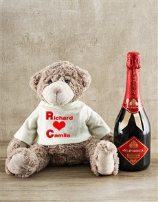 gifts: Large Personalised Teddy and JC le Roux Gift!