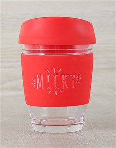 gifts: Red Personalised Travel Mug!