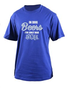 gifts: Personalised Blue In Dog Beers T Shirt!