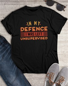 gifts: Personalised Black Unsupervised T Shirt!