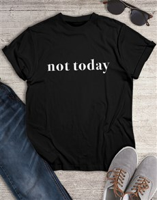 gifts: Personalised Black Cant Today T Shirt!