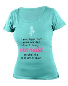 gifts: Personalised Aqua Mermaid Ladies  T Shirt!