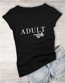 gifts: Personalised Black Adulting Ladies T Shirt!