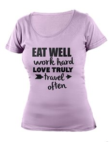 gifts: Personalised Lavender Eat Well Ladies T Shirt!