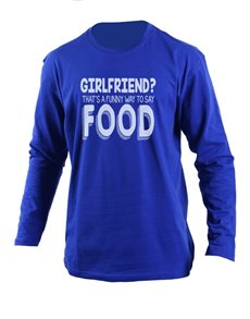 gifts: Personalised Blue Girlfriend Longsleeve T Shirt !