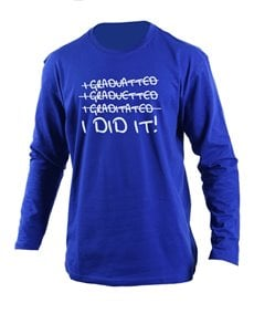 gifts: Personalised Blue I Did It Longlseeve T Shirt!