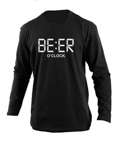 gifts: Personalised Black Beer Longsleeve T Shirt!