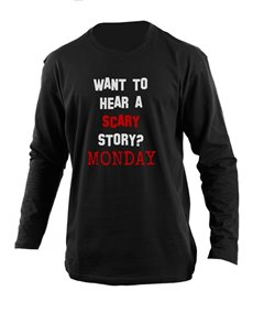 gifts: Personalised Black Monday Longsleeve T Shirt!
