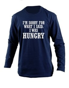 flowers: Personalised Navy Hungry Longsleeve T Shirt!
