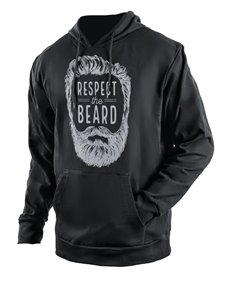 gifts: Personalised Black Respect The Beard Hoodie!