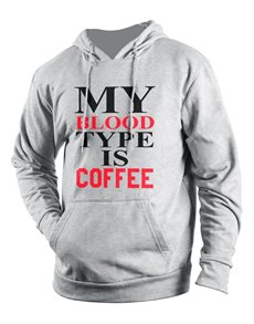 gifts: Personalised Grey Coffee Hoodie!