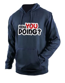 gifts: Personalised Navy How You Doing Hoodie!