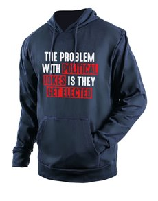 gifts: Personalised Navy Political Jokes Hoodie!