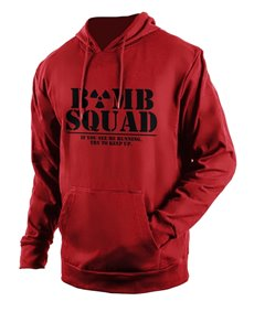 gifts: Personalised Red Bomb Squad Hoodie!