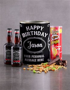 gifts: Personalised Birthday Jack and Snacks Bro Bucket!
