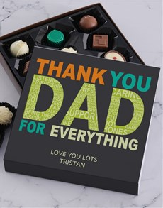 gifts: Personalised Thank You Dad Choc Tray!