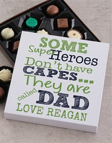 gifts: Personalised Hero Dad Choc Tray!