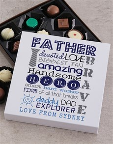 gifts: Personalised Devoted Dad Choc Tray!