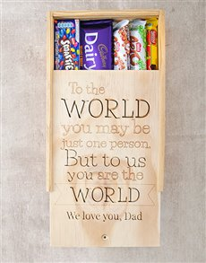 gifts: Personalised Choc Crate You Are The World!