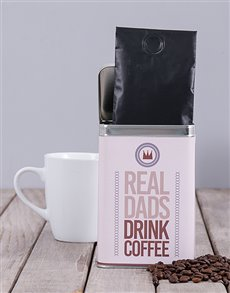 gifts: Personalised Real Dads Coffee Tin!