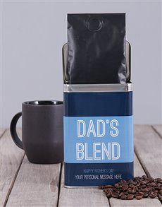 gifts: Personalised Dads Blend Coffee Tin!