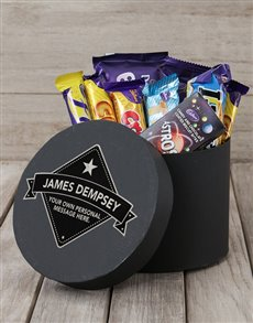 gifts: Personalised Star Label Choc Hat Box!
