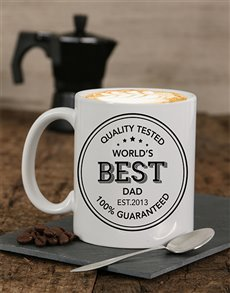 gifts: Personalised Quality Tested Dad Mug!