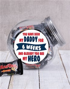 gifts: Personalised My Daddy My Hero Candy Jar!