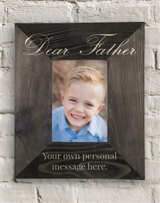 gifts: Personalised Dear Father Frame!