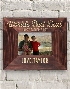 gifts: Personalised Worlds Best Dad Frame!