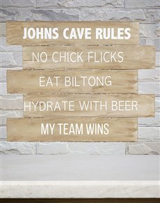 gifts: Personalised Cave Rules Panel Artwork!