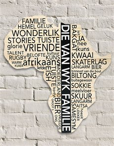 gifts: Personalised Familie Africa Board!