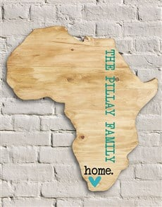gifts: Personalised Africa Board!