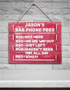 gifts: Personalised Bar Phone Hanging Panel Art!