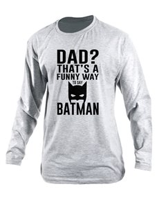 gifts: Personalised Dad Batman Longsleeve T Shirt!