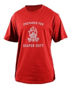 gifts: Personalised Diaper Duty T Shirt!