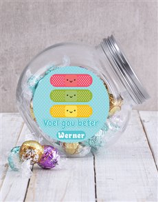 gifts: Personalised Voel Gou Beter Candy Jar!